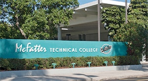 McFatter Technical College sign