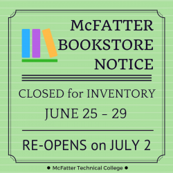 bookstore closed June 25-29